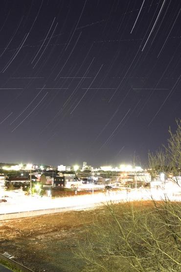 水戸の街に昇る星々