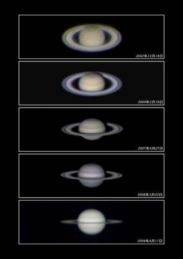 土星の環 7年間の変化