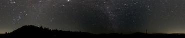 360°パノラマ星景写真 2009年12月16日 高萩市某所にて
