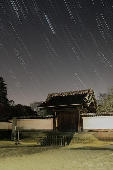 弘道館正門の上に 2011年2月21日