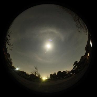 月の暈 2011年4月14日