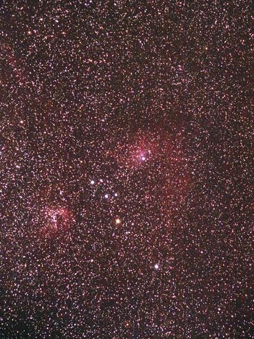 ぎょしゃ座の輝線星雲&反射星雲 IC405「まがたま星雲」周辺