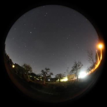 北の空,カシオペア座と北斗七星