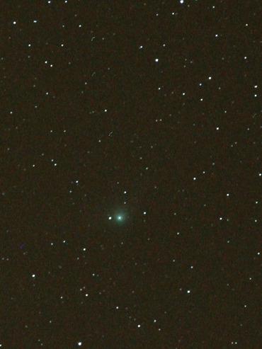2012年1月18日早朝のギャラッド彗星(彗星部分拡大)