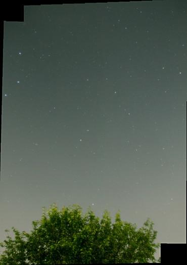 2コマモザイクによるりゅう座 2012年6月25日 自宅にて