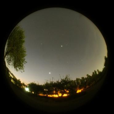明け方の金星と木星 2012年8月29日