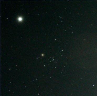 ヒヤデス星団と木星 2012年9月5日