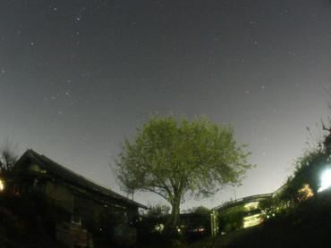 北斗七星とカシオペア座 2012年10月26日