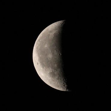 2012年11月8日 明け方の月