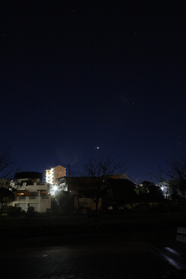 金星と土星 明け方のランデブー 2012年11月27日