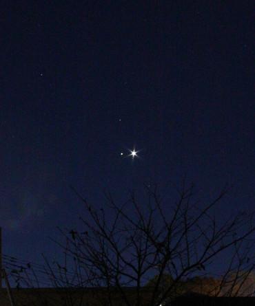 金星と土星 2012年11月27日