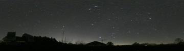 360°パノラマ星景写真 2006年11月26日 城里町ふれあいの里天文台にて