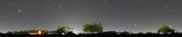 日周運動の360°パノラマ写真