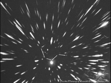 2001年しし座流星群の写真