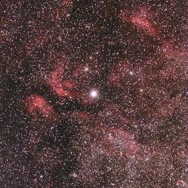 はくちょう座γ星付近の星雲 2009年8月15日撮影