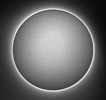 Hαによる太陽像 2009年6月24日