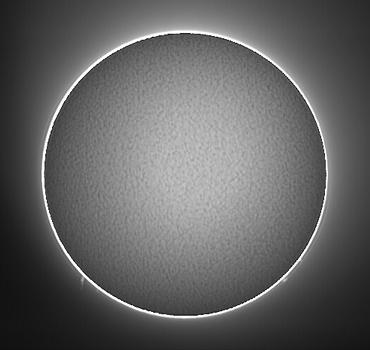 Hαによる太陽像 2009年7月16日