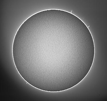 Hαによる太陽像 2009年7月20日