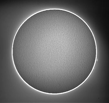Hαによる太陽像 2009年8月14日