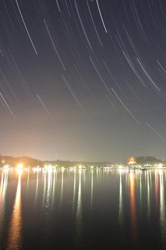 千波湖に降る星々