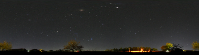 360度パノラマ星景写真 2007年11月19日 自宅にて