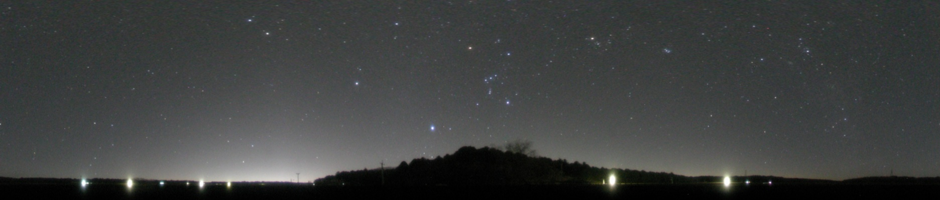360°パノラマ星景写真 2007年12月15日 水戸市有賀町かたくりの里公園にて