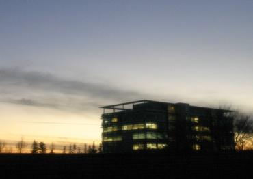 水星が見えている(はずの)夕空 2008年1月17日