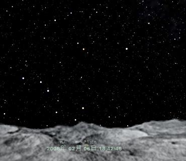 Mitakaplus 月から眺めた星空