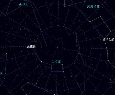 紀元前44年3月14日の北極付近 Xplnsにて作成