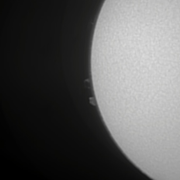 Hαによる太陽像 2008年5月6日 その1