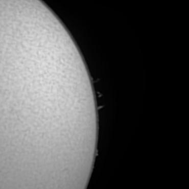 Hα線による太陽像 2008年5月18日
