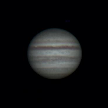 2008年7月28日の木星 城里町ふれあいの里天文台にて