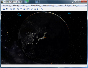 Mitakaplusによる夜の東アジア地域