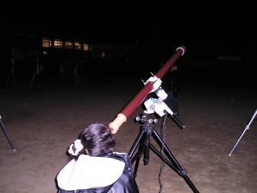 ガリレオ望遠鏡 パラボラのまちの星祭り会場にて
