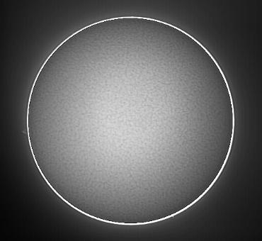 Hαによる太陽像 2009年2月22日10:24(JST)