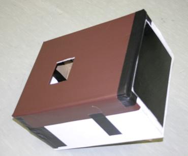 ダンボール箱で作った日食観察装置