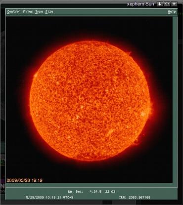 XEphem で表示した HOHO EIT の画像