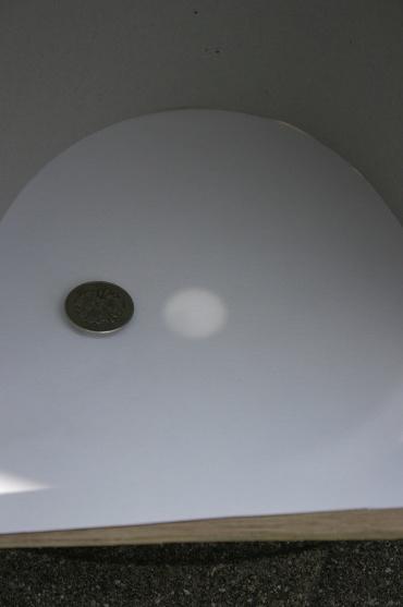 日食投影機で投影した太陽
