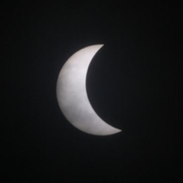 2009年7月22日部分日食 11:27頃 水戸芸術館前広場にて