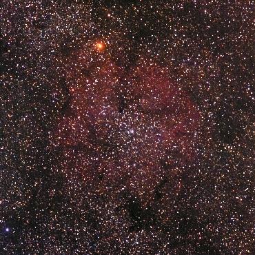 ケフェウス座の輝線星雲IC1396
