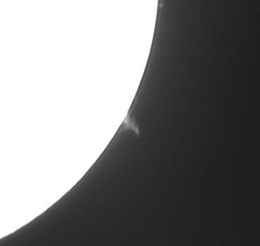 Hαによる太陽像(部分拡大) 2009年9月14日