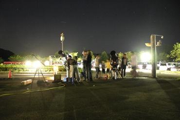 2009年9月20日 「ホロルの湯」前での観望会