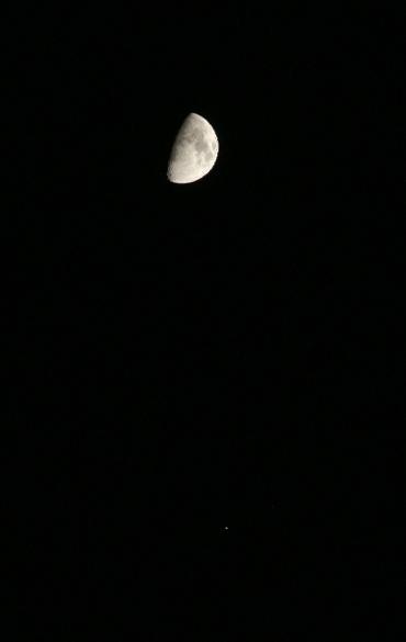 月と並ぶ木星 2009年10月27日