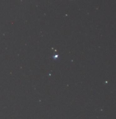 Canon EF50mm F1.8Ⅱ 開放絞りでの周辺星像