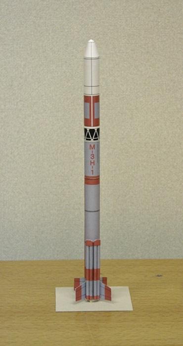 1/100スケールペーパークラフトによる Μ-3H-1