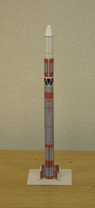1/100スケールペーパークラフトによる Μ-3S-1