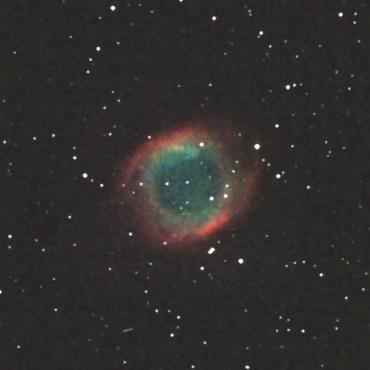 みずがめ座の惑星状星雲NGC7293 2009年9月25日撮影