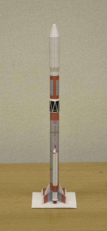 1/100スケールペーパークラフトによる Μ-3SⅡ-1