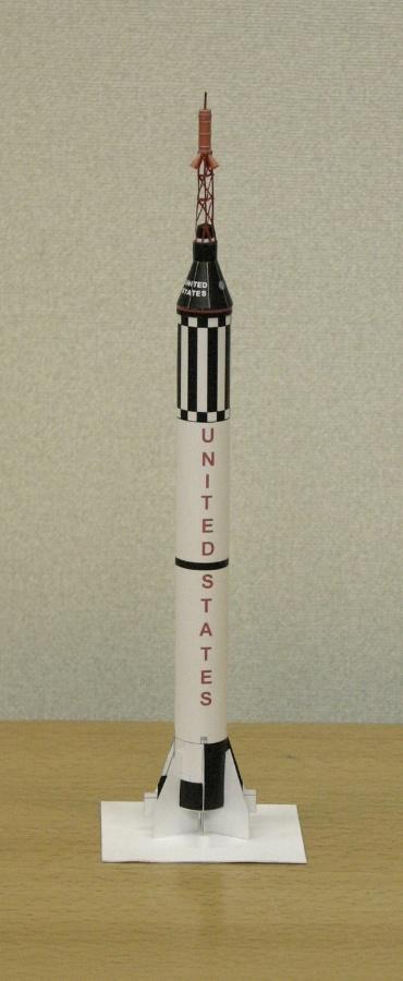 1/100スケールペーパークラフトによる マーキュリー・レッドストーン