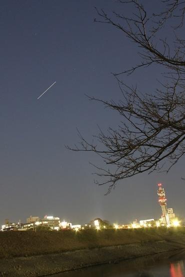 水戸市上空の国際宇宙ステーション